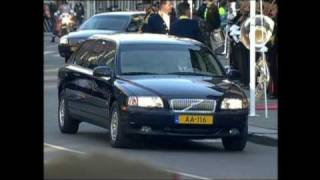Huwelijk Prins van Oranje en Máxima Zorreguieta: aankomst gasten (2002)