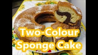 Two-Colour Sponge Cake - Italian recipes