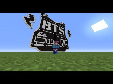 [full tutorial] minecraft bts logo pixel art