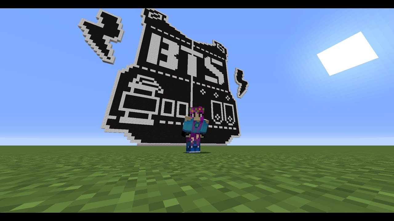 Full Tutorial Minecraft Bts Logo Pixel Art