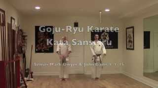 Goju-Ryu Kata Sanseiru Sensei Mark Dwyer & John Ganis 1-1-15