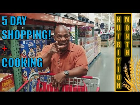 How to Food Prep for 5 days | Shop & Cook Day |  Bodybuilding Nutrition Month (Build Muscle Fast)