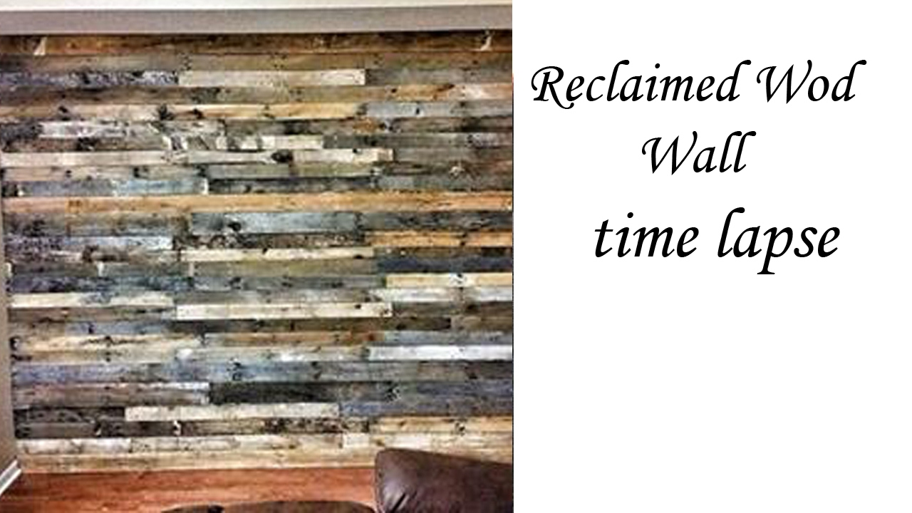 Reclaimed Pallet Wood Wall Youtube