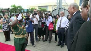 Fijian Prime Minister Begin his State Visit in Papua New Guinea