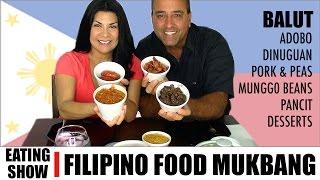 Mabuhay! FILIPINO FOOD MUKBANG EATING SHOW  | Not ASMR