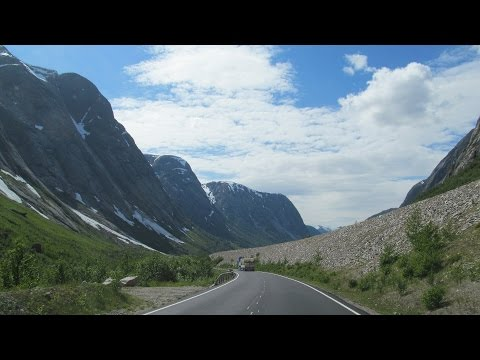 Norway: Road 5 from the Fjærland Tunnel to Skei