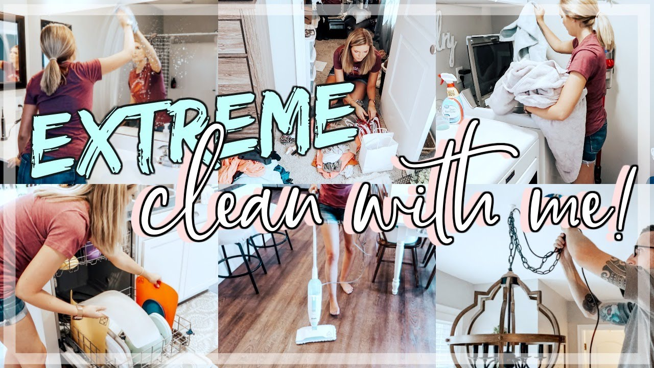 EXTREME CLEAN WITH ME 2020   ALL DAY CLEAN WITH ME   CLEANING   DECLUTTERING   ORGANIZING