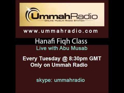 Hanafi Fiqh Class #2 Badaa'i `Us Sanaa`i 14th Jan 2014