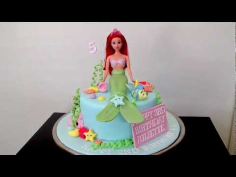 ariel mermaid cake decorations how to tutorial on my
