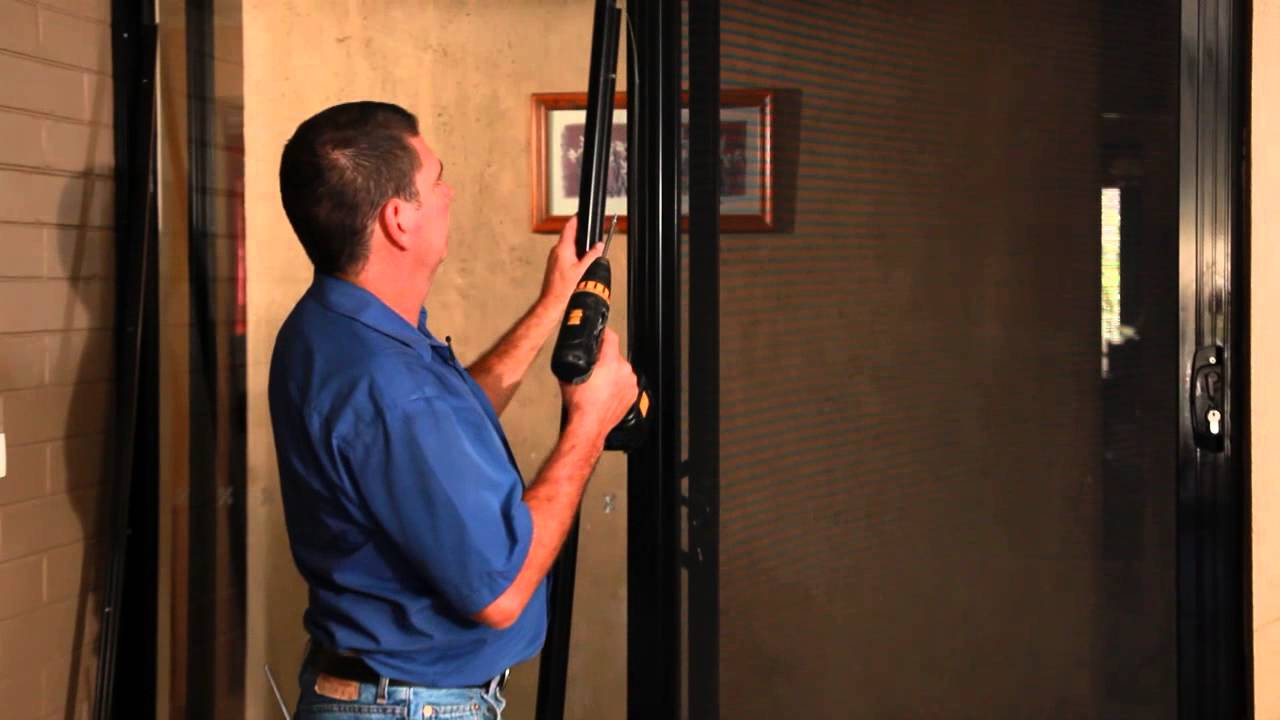 Sliding Security Door Installing A Self Closer Youtube