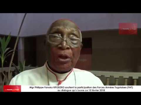 Mgr KPODZRO à propos de la participation des FAT au dialogue : « Il faut les faire venir »