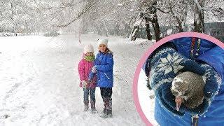 Зима, снег и голубенок Гоня
