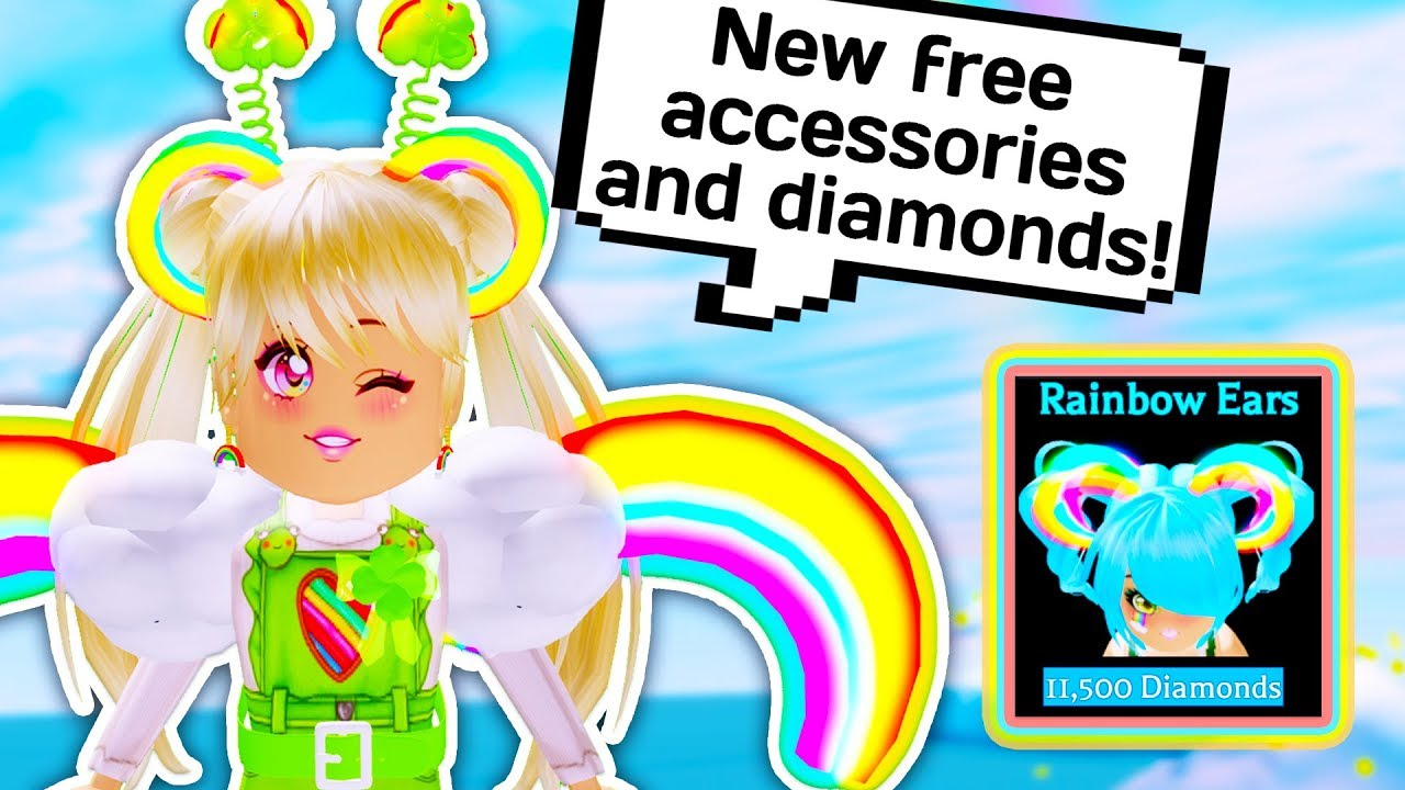 How To Get All Of The New Accessories Free Diamonds Roblox