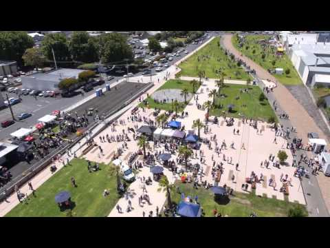 Drone footage of the Official Opening of The Rail