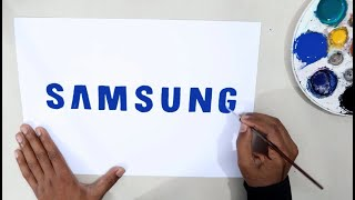 How to draw the Samsung logo @Samsung