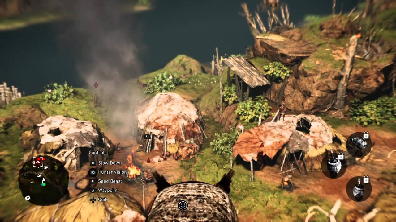 Far Cry Primal Enemy Camp Daylight Stealth Assault Youtube