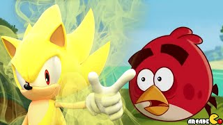 Angry Birds Epic - Sonic Dash Event New Character Super Sonic Power!