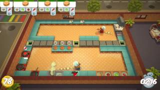 Overcooked Level 2-4 2 Player Co-op 3 Stars