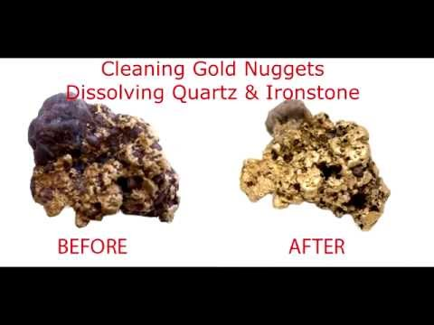Cleaning Gold Nuggets, Dissolving Quartz & Ironstone with Sodium hydroxide (caustic soda)
