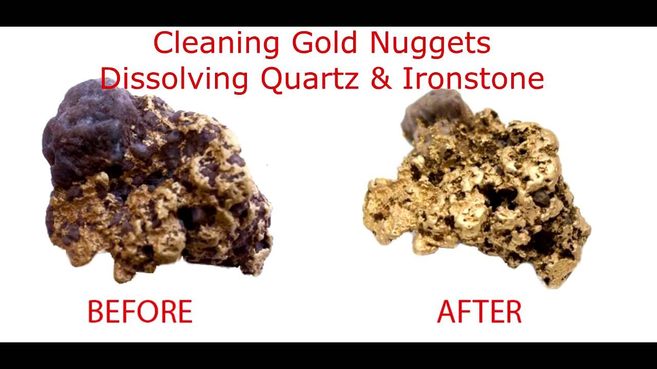 Cleaning Gold Nuggets, Dissolving Quartz & Ironstone With