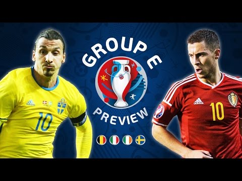 EURO 2016 Group E Preview | Belgium, Republic of Ireland, Sweden & Italy