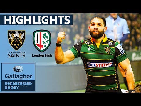 Northampton v London Irish HIGHLIGHTS | 2 Late Tries After Red Card! | Gallagher Premiership