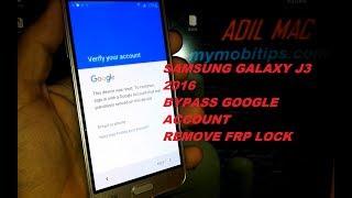 samsung Galaxy J3 2016 Bypass google account remove FRP lock