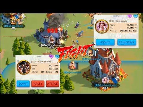 Biggest War Ever Part 5! 1B Power Fight! Kingdom 96 RD1 vs GO+! Rise of Civilizations
