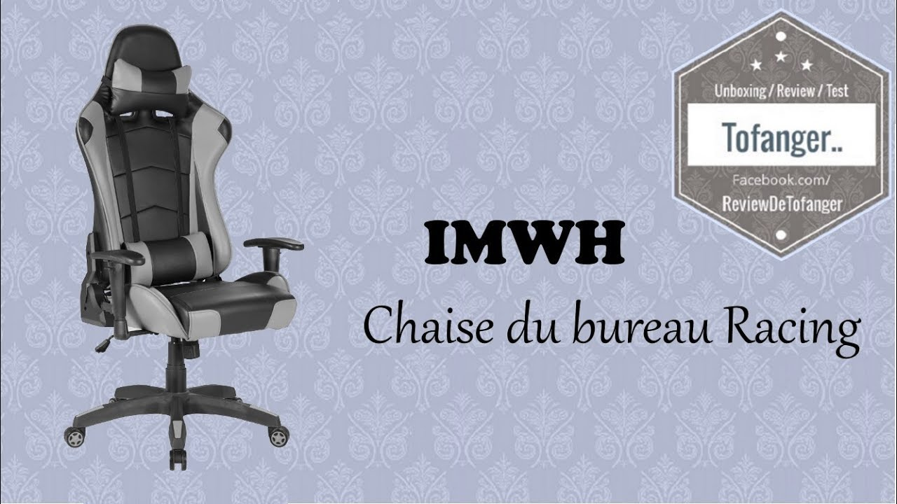 super populaire e8f4d c02de IWMH Racing Gaming Office Chair