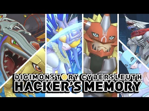 Digimon Story : Cyber Sleuth Hacker's Memory - All Champion Digimon Special Attacks & Victory Poses!
