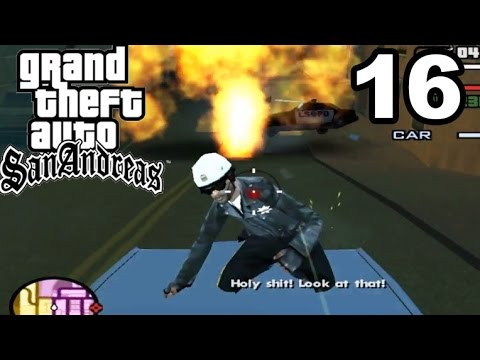 GTA San Andreas | CRAZY COPS JUMPING ON MY CAR!! #16 - (Playthrough)