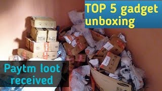 Paytm loot received , Top 5 gadget unboxing ||By technical amiyy