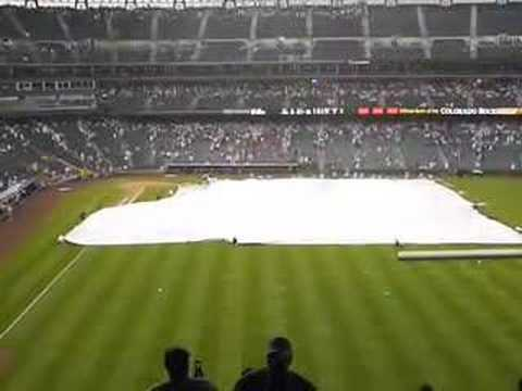 The Amazing Flying Tarp - Coors Field