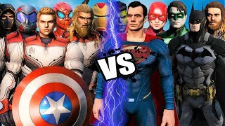 THE AVENGERS (ENDGAME SUITS) vs JUSTICE LEAGUE - EPIC BATTLE