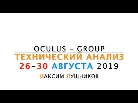 Технический обзор рынка Форекс на неделю: 26 - 30 Августа 2019 от Максима Лушникова