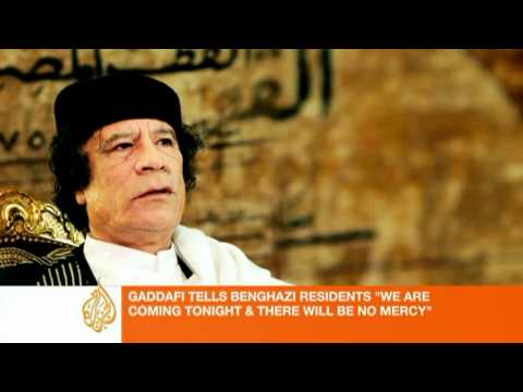 Gaddafi addresses Benghazi residents