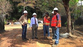 Rector de la UTP visita obras en construcción