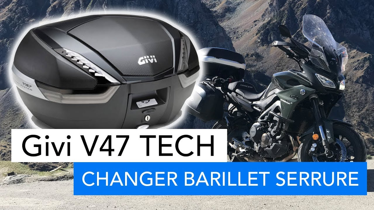 givi v47 tech changer un barillet de serrure top case youtube. Black Bedroom Furniture Sets. Home Design Ideas