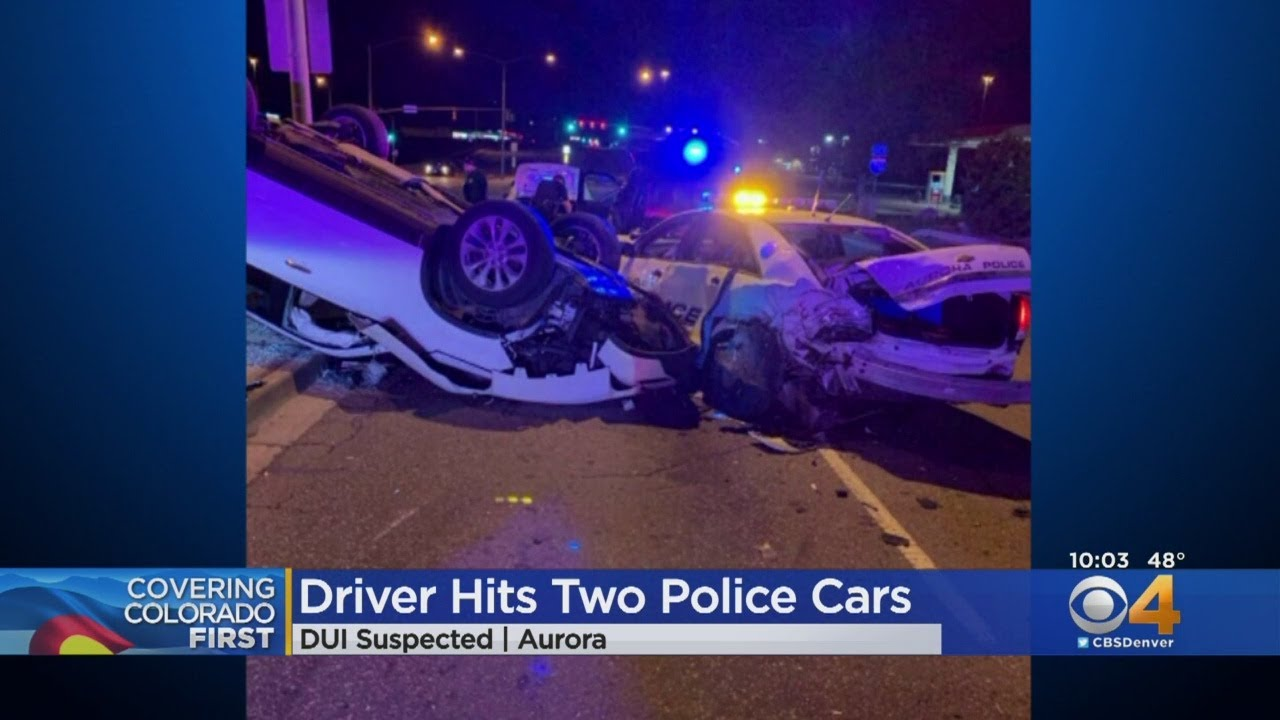 Aurora Police Cars Hit By Suspected Drunk Driver
