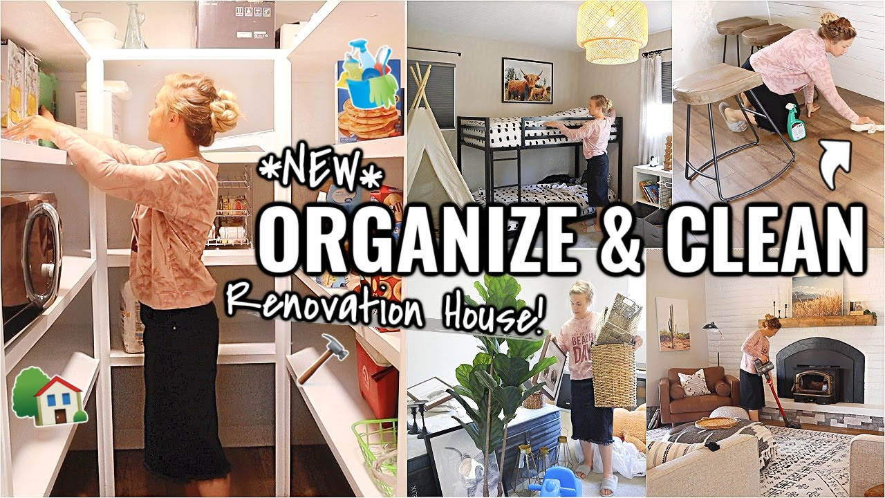 RENOVATION HOUSE CLEANING!!👏🏼 CLEAN & ORGANIZE WITH ME   OUR ARIZONA FIXER UPPER