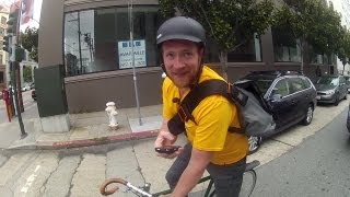 A Day In The Life of a Postmates Bike Messenger