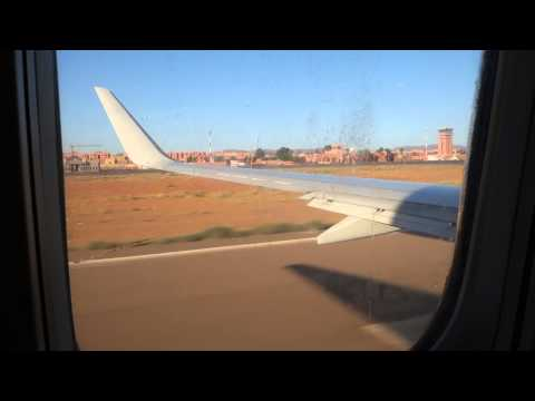 Departing from Ouarzazate airport, Morocco
