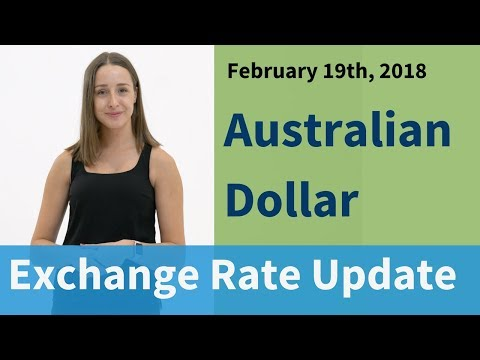 Australian Dollar Exchange Rate Update: February 19, 2018
