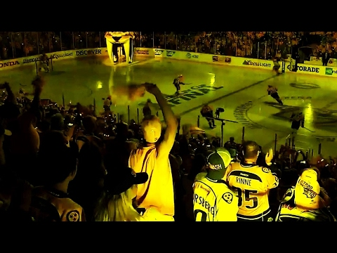 Bridgestone Arena erupts as Predators take the ice for Game 3