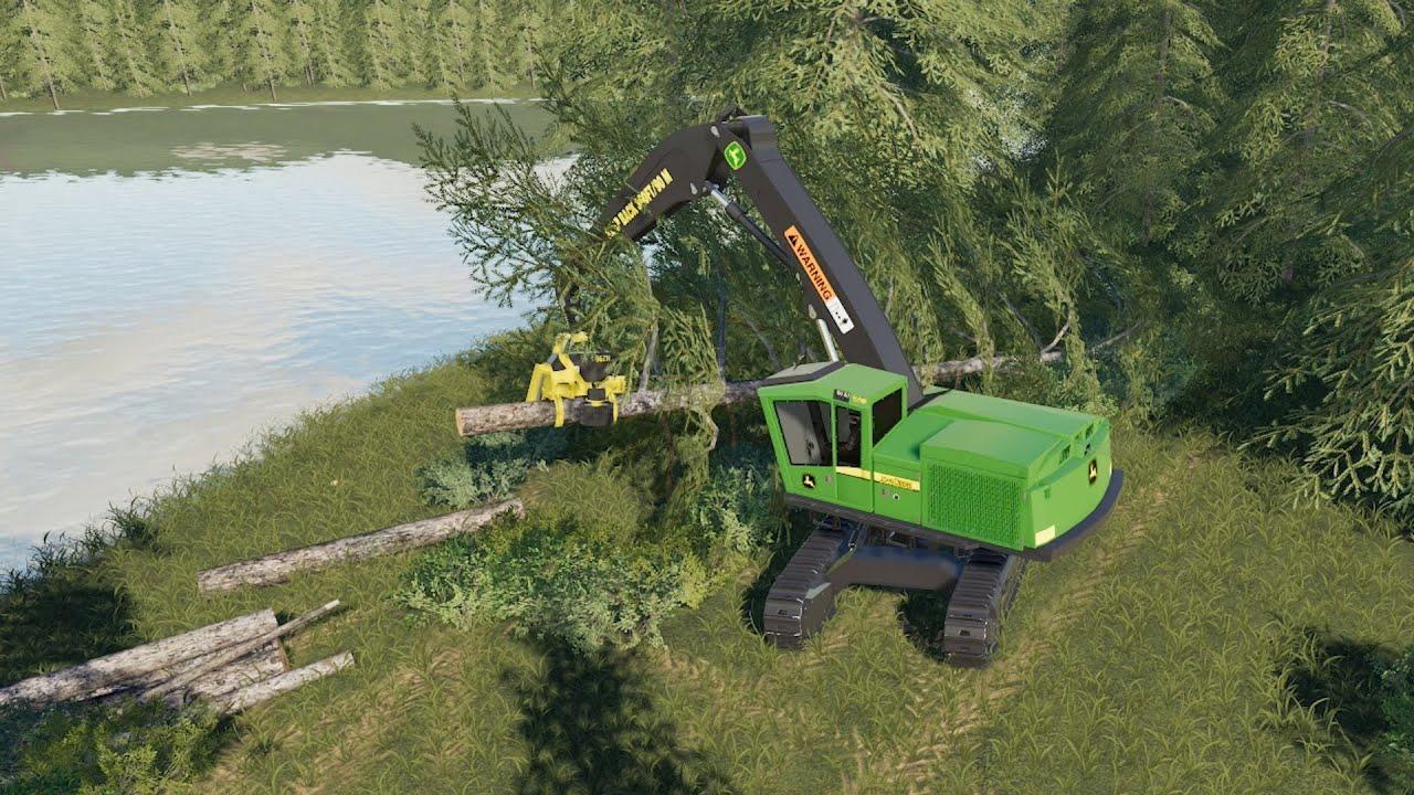 Cutting Trees on Willamina Forest | FS19 Timelapse | EP #1 | Farming  Simulator 19 timelapse