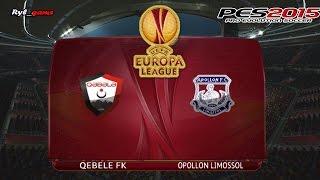 Qəbələ - Apollon Limassol • UEFA Europa League • PES 2015 Gameplay