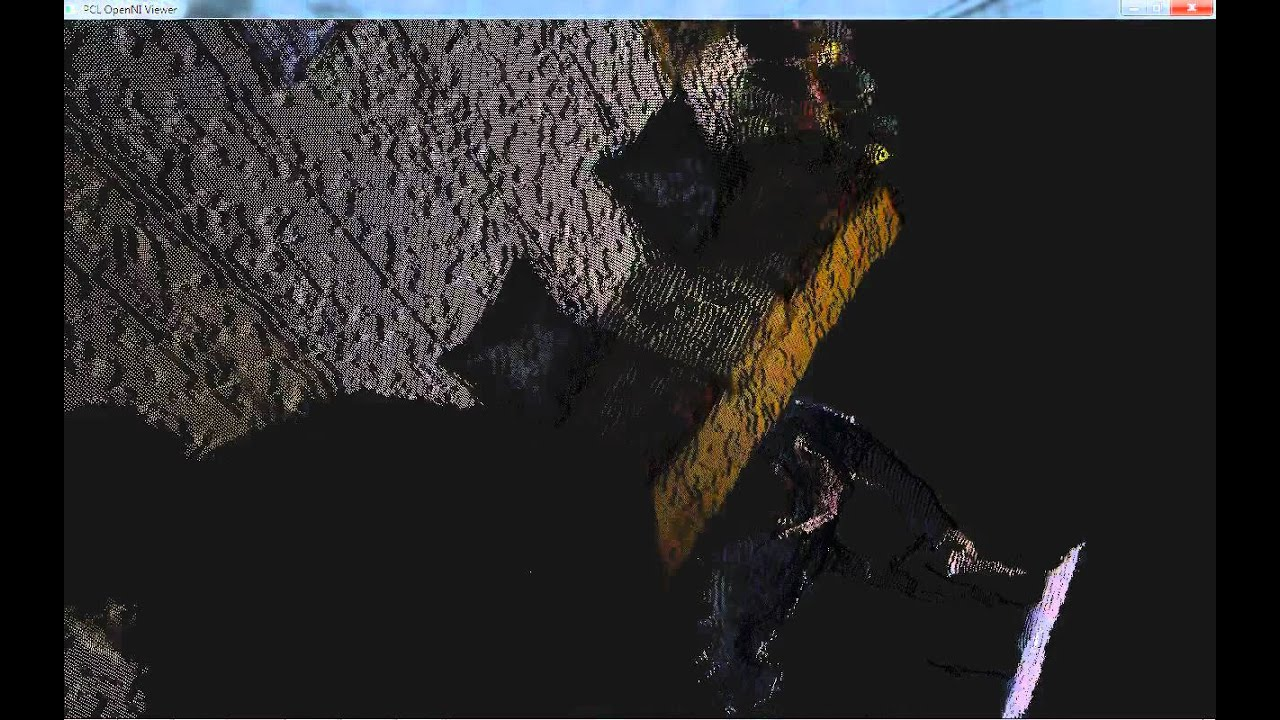 Point Cloud generated using Kinect + PCL