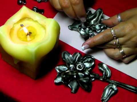 Flor hecha de cucharas reciclando youtube - Flores de plastico ...