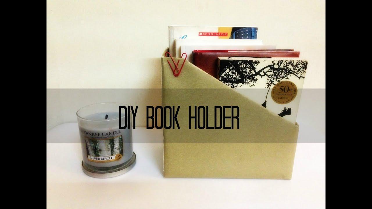 Diy book holder youtube for Diy book rack