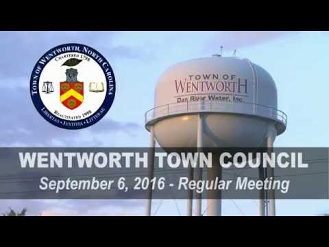 September 6, 2016 Wentworth Town Council